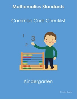 Common Core Math Standards Checklist for Kindergarten