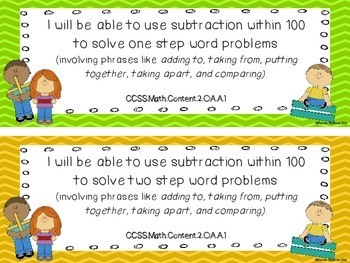 Common Core Math Standards Deconstructed (2nd Grade): I will be able to...