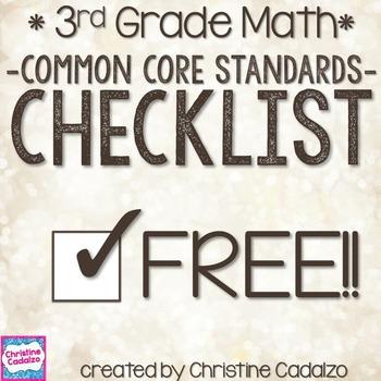 Common Core Third Grade Math Checklist