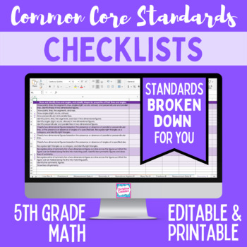 Common Core Checklist - Fifth Grade Math