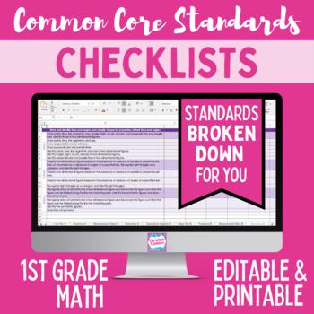 Common Core Checklist - First Grade Math