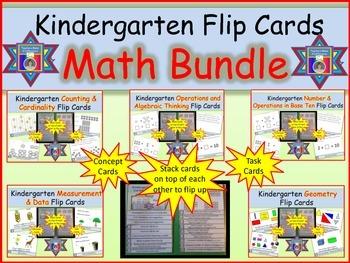 Common Core Math Standards Flip Cards for Kindergarten - Bundle