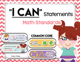 "Common Core - Math Standards ""I Can"" Statements"