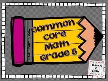 Common Core Math Standards 5th Grade
