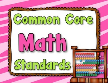 Common Core Math Standards Posters - grade 5 (lime, hot pi