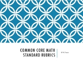 Common Core Math Standards Rubrics