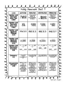 Common Core: Math Standards: Week 9 Math Homework