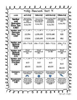 Common Core: Math Standards: Week 14 Math Homework
