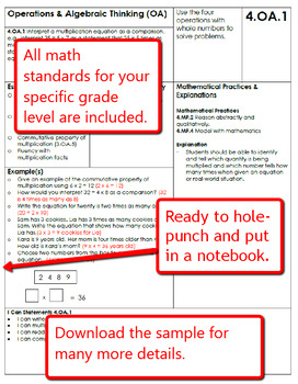 Common Core Math Standards and Examples Handbook - 4th Grade