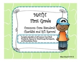 Common Core Math Standards and RTI Checklist First Grade