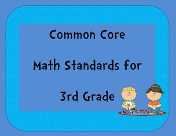 Common Core Math Standards for 3rd Grade Posters : California