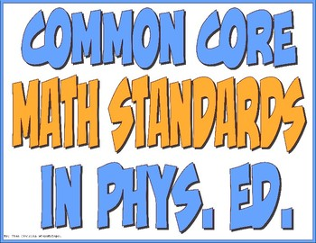 Common Core Math Standards in PE Display