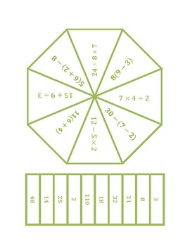 """Common Core Math Stations & Games - """"Poly-Problem-Solver"""" Numerical Expressions"""