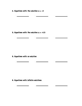 "Common Core Math Stations and Games - ""3 of a Kind"" Linear Equations"
