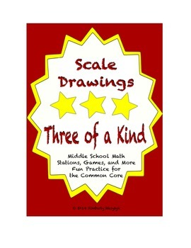 "Common Core Math Stations and Games - ""3 of a Kind"" Scale"