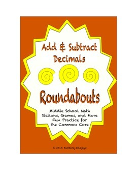 Common Core Math Stations and Games - Adding & Subtracting Decimals Roundabout