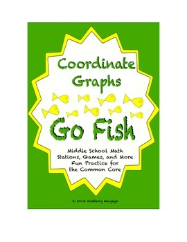 """Common Core Math Stations and Games - Coordinate Graph """"Go Fish"""""""