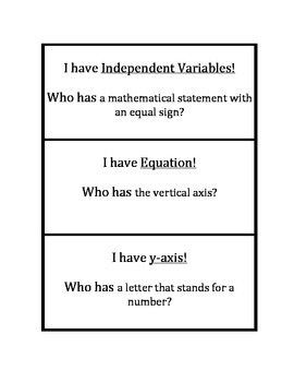 Common Core Math Stations and Games - Coordinate Relationships I Have Who Has