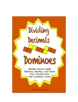 Common Core Math Stations and Games - Dividing Decimals Dominoes