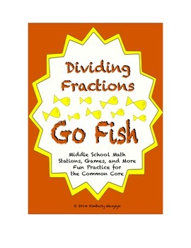 "Common Core Math Stations and Games - Dividing Fractions ""Go Fish"""