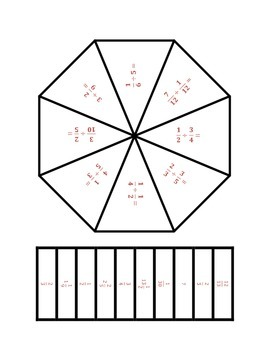 Common Core Math Stations and Games - Dividing Fractions Poly Problem Solvers