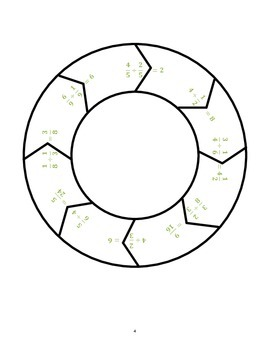 Common Core Math Stations and Games - Dividing Fractions Roundabout