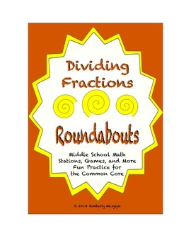 Common Core Math Stations and Games - Dividing Fractions R