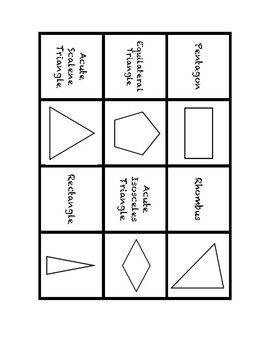 "Common Core Math Stations and Games - ""Dominoes"" 2-D Figures"