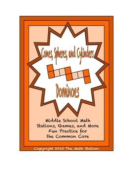 "Common Core Math Stations and Games - ""Dominoes"" Cones, Sp"