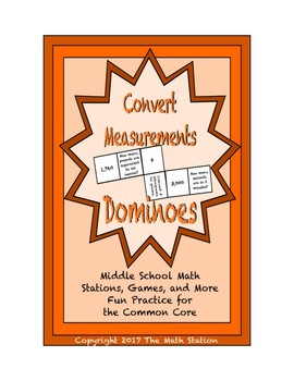 """Common Core Math Stations and Games - """"Dominoes"""" Convertin"""