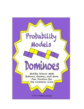 "Common Core Math Stations and Games - ""Dominoes"" Probability Models"
