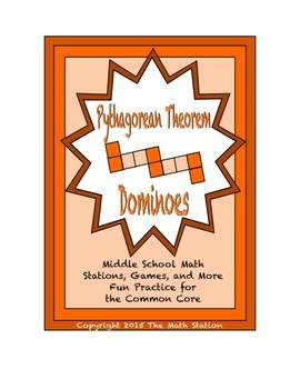 "Common Core Math Stations and Games - ""Dominoes"" Pythagorean Theorem"