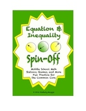 Common Core Math Stations and Games - Equation & Inequality Spin Off
