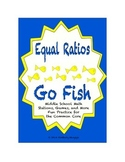 """Common Core Math Stations and Games - Equivalent Ratios """"Go Fish"""""""
