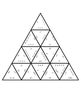 Common Core Math Stations and Games - Exponents Triangler