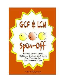 Common Core Math Stations and Games - GCF and LCM Spin Off