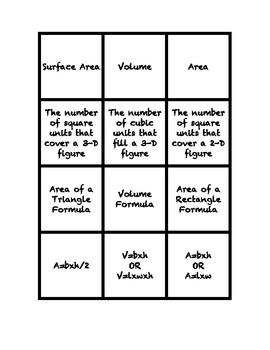 Common Core Math Stations and Games - Geometry Math Match
