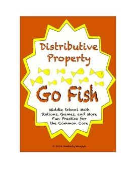 "Common Core Math Stations and Games - ""Go Fish"" Distributive Property"