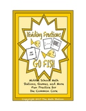 """Common Core Math Stations and Games - """"Go Fish"""" Dividing Fractions with Models"""