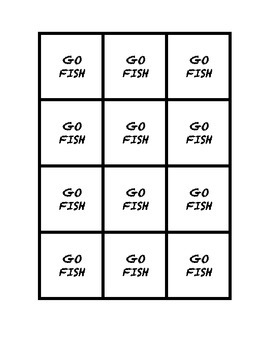 """Common Core Math Stations and Games - """"Go Fish"""" Nonlinear Functions"""