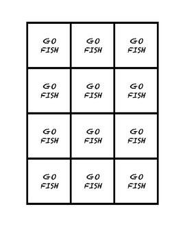"Common Core Math Stations and Games - ""Go Fish"" Patterns"
