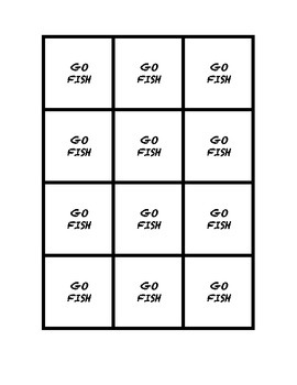 """Common Core Math Stations and Games - """"Go Fish"""" Statistics"""