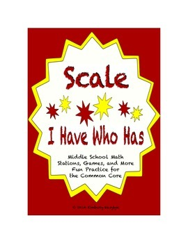 "Common Core Math Stations and Games - ""I Have Who Has"" Scale"