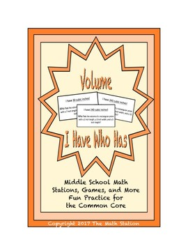 """Common Core Math Stations and Games - """"I Have Who Has"""" Volume"""