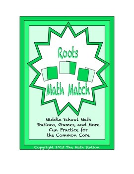 "Common Core Math Stations and Games - ""Math Match"" Roots"