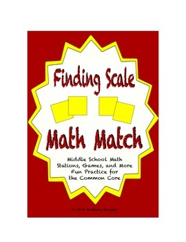 "Common Core Math Stations and Games - ""Math Match"" Scale"