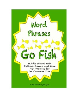 "Common Core Math Stations and Games - Math Phrases ""Go Fish"""