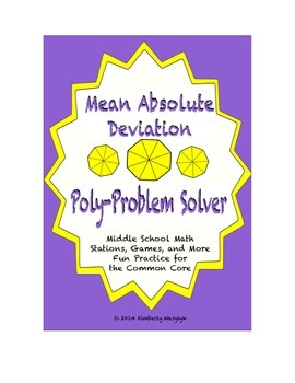 Common Core Math Stations and Games - Mean Absolute Deviation Problem Solvers