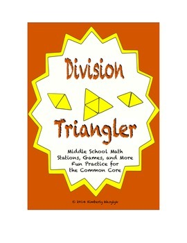Common Core Math Stations and Games - Multi-Digit Division Triangler