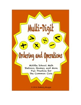 Common Core Math Stations and Games - Multi-Digit Ordering and Operations
